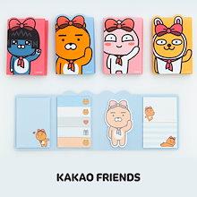 [カカオフレンズ Kakao Friends ] アピーチ ライアン リボン 4段 粘着 メモ帳 / メモ紙 ポストイット 4種類 / カカオふれんず