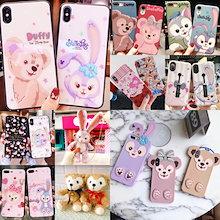 Duffy ディズニーダフィーベア iPhoneXR iPhoneXs MaxケースiPhoneXケースiPhone8plusケースiPhone7ケースiphone8ケースIPHONEケース6/6s