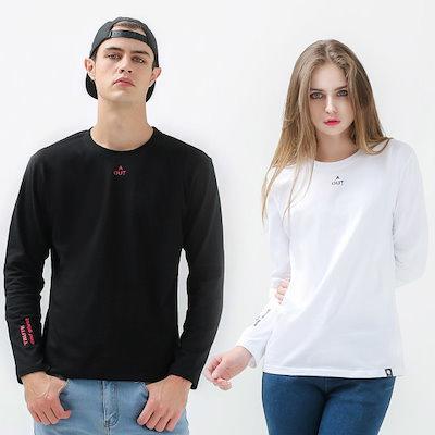 ゴーストリパブリックGLT936の小売ポイント・プリンティング長い腕ラウンドティーシャツ ストライプティーシャツ / T-shirt / 韓国ファッション