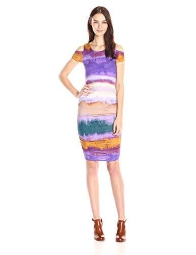Jessica Simpson Womens Everest Cold Shoulder Dress, Degrade, Small