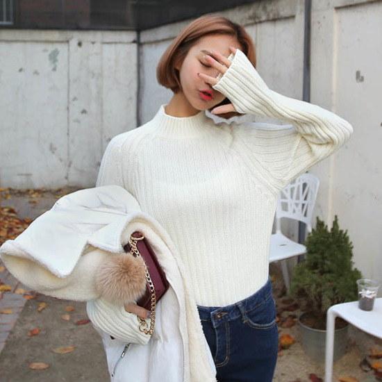 キュニゴルス今日会うバンポルラニトゥティ ニット/セーター/タートルネック/ポーラーニット/韓国ファッション