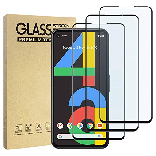 Hianjoo ガラスフィルム Google Pixel 4a 対応 薄さ0.33mm/硬度9H/飛散防止/高透過率 液晶保護フィルム 強化ガラス Google Pixel 4a 対応 全面保護