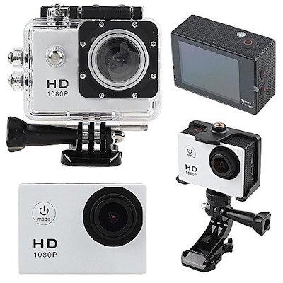 アウトドアHD720PスポーツのDVミニカメラHD30M防水ヘルメットバイクカメラ
