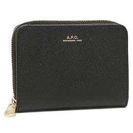 アーペーセー 二つ折り財布 コンパクト財布 ブラック メンズ レディース APC A.P.C. PX