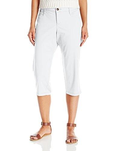 Lee Womens Natural Fit Jennar Capri Pant, White, 12