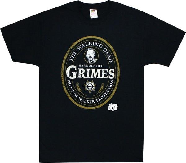 ウォーキング・デッド・リック・グライズ・オーバル・ラベル・アダルト・Tシャツ