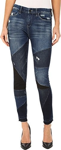 Blank NYC Womens Patterned Skinny in Ball/Chain Ball/Chain Jeans 28 X 29