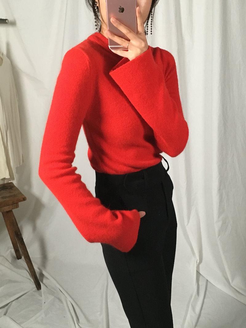 トリンアンゴラフェミニンニットkorea fashion style