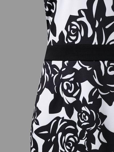 橿忖階蒙・・・019 Wipalo Women Summer Formal Bodycon Dress Plus Size 5XL Flower Print Mesh Panel Sheath Sle