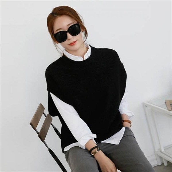 非関東ベストnew 女性ニット/ニットベスト/韓国ファッション