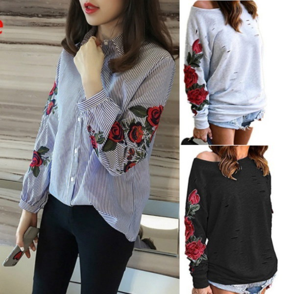New Fashion Casual Sexy Deep V Neck Button Slim Waist Long Sleeves Chiffon Blouse Shirt Top