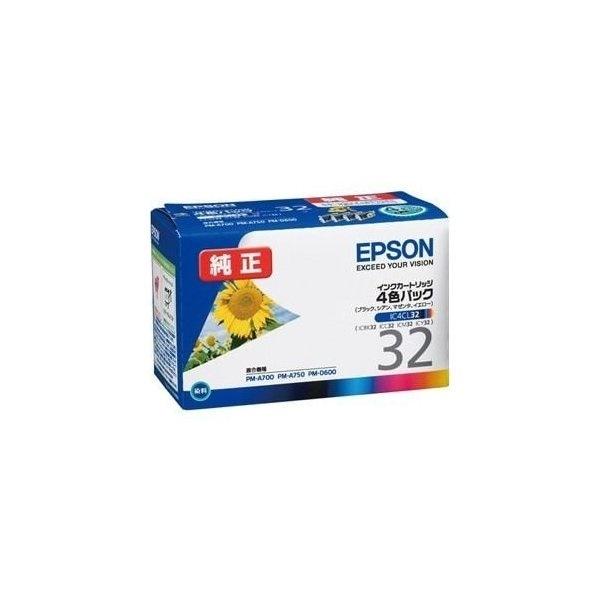 エプソン IC4CL32 【純正】インクカートリッジ 4色セット