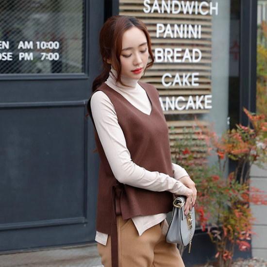 シーフォックスエルルスウールベスト ベセチュウ / ニット・ベスト/ 韓国ファッション