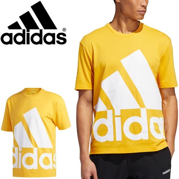 半袖 Tシャツ メンズ アディダス adidas M FAVOURITES Tシャツ/スポーツウェア プリントT イエロー系 トップス 半袖シャツ 家トレ/14607-GK3327