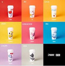 【BTS正規品】 BT21 REUSABLE CUP  BTS x DUNKIN DONUT COLLABORATION CUP  防弾少年団 BTSグッズ  旅行用カップコーヒーカップ