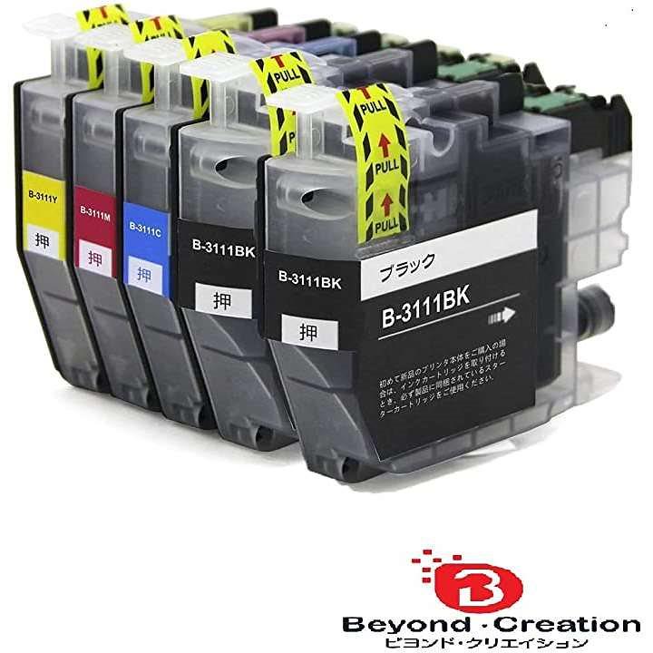 ブラザー インクカートリッジ LC3111 4pk +BK 黒 顔料 互換 Brother BK2/C/M/Y ICチップ残量表示検知機能付き 汎用 LC3111-4PK 対応機種