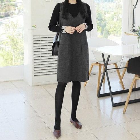 [ClicknFunny] Elder Lynn V Neck Dress Korean fashion style