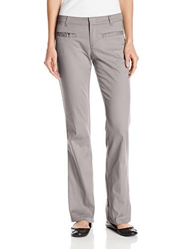 Dickies Juniors Stretch Bootcut Pant, Silver/Gray, 11