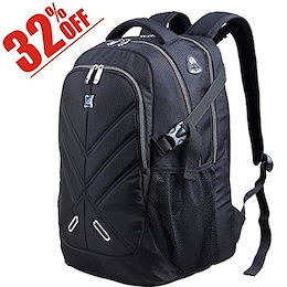 Backpack for Men and Women Fit 17 Inches All 15.6 Inches Laptops Waterproof Shockproof OUTJOY School