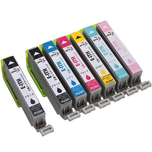 エプソン-EPSON用 ITH-6CL-合計7本セット(BK2-LC-C-LM-M-Y) イチョウ インクカートリッジ 【@ink】-純正インク-互換インク-残量表示機能付 [対応機種 EP-709A