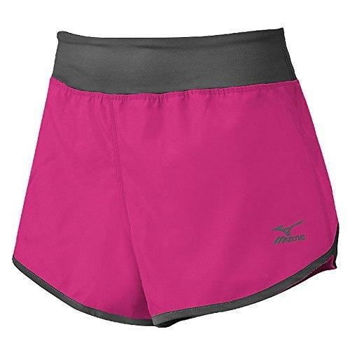 Mizuno Womens Dynamic Cover Up Shorts, X-Large, Shocking Pink/Charcoal