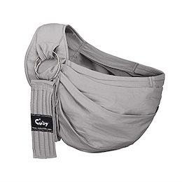 CUBY 新生児 ベビースリング 抱っこひも おんぶ 調節可能抱っこひも (グレー)グレー