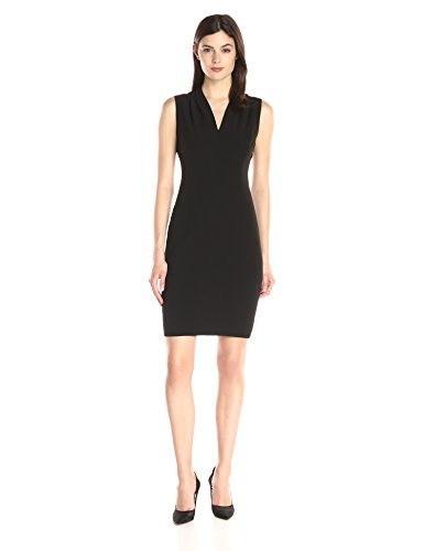 T Tahari Womens Tonya Dress, Black, 4