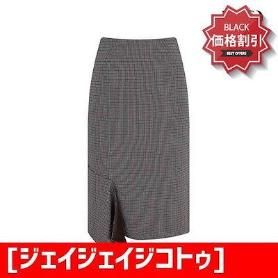 [ジェイジェイジコトゥ](JJro)オンバル切開スカートGIBA0SKJ6 /スカート/Hラインスカート/ 韓国ファッション