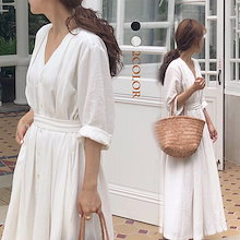 || 本日限定1999円➡1390円 ||2019韓国ファッション 春のシャツワンピース ボディラインがキレイに見える美シルエットフレアワンピ