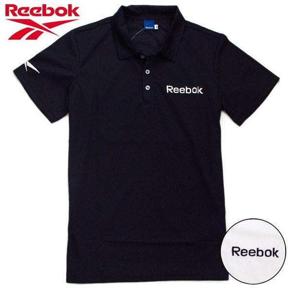 Reebok リーボック 半袖ポロシャツ ポリエステル ストレッチ鹿の子編み ロゴ刺しゅう ホワイト
