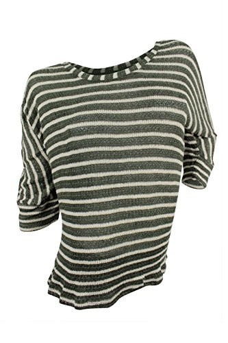 Splendid Womens Green Cream Striped Sweater, 3X