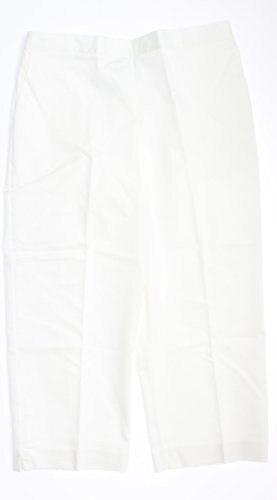 Alfred Dunner Beekman Place Flat Front Capri White 12