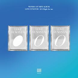【3種セット】【公式】【ウォノ】【WONHO】「1st Mini Album Part.1 Love Synonym : (#1) Right for me」【必ずチャート反映】