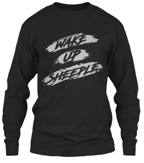 Wake Up Sheeple  -  GildanロングスリーブTシャツ