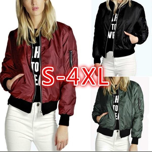 ファッションレディースクラシックキルティングジャケットショートパッド付きボンバージャケットコートプラスサイズ