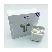 最新 Bluetooth5.0イヤホン Bluetooth Hi-Fi高音質 I12 TWS ワイヤレスイヤホン ブルートゥース自動ペアリンケースなしブチブチ袋付き