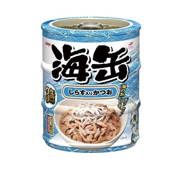 海缶 ミニ 3P しらす入りかつお 60gx3缶