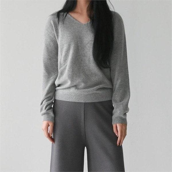 デイリー・マンデーWool quality vneck knitニート 女性ニット/ Vネックニット/韓国ファッション
