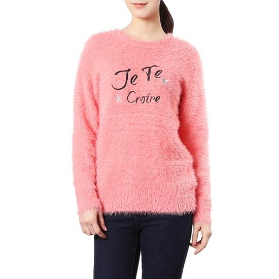 ジジピエクス毛ポソンイレタリング自首ラウンドニットGHA1KP601F ニット/セーター/韓国ファッション