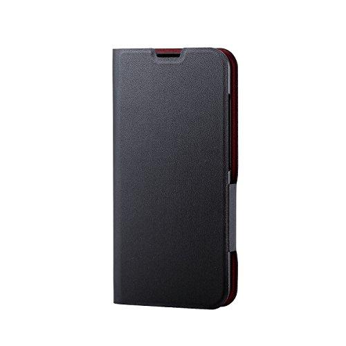 エレコム AQUOS R compact ケース SHV41 (au) (softbank) 手帳型 レザー ウルトラスリム サイドマグネット 【カード収納ポケット付き】 ブラック