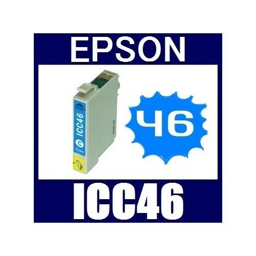 ★値下げしました!★即日発送/安心1年保証 EPSON(エプソン) IC46シリーズ 互換インクカートリッジ ICC46 (シアン)