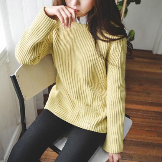 ジャストウォンカタンいと八十ニット ニット/セーター/ニット/韓国ファッション