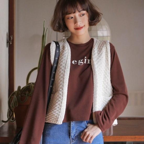 ウィドゥイプンヨニプ・ニットベスト ベセチュウ / ニット・ベスト/ 韓国ファッション