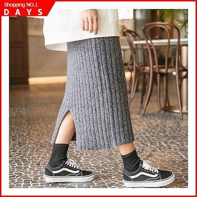 ゴルジの後ろの開けたこと・ニットロングスカート /スカート/ロングスカート/ 韓国ファッション