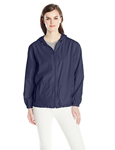 Big Chill Womens Lightweight Jacket with Mesh Lining, Navy, X-Large