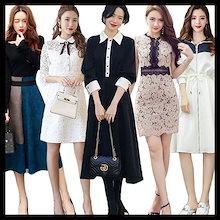 「03/22 春夏の新作Special Offer」♥高品質♥韓国ファッション♥ワンピース メリヤスワンピース ストライプのワンピース 半袖ワンピース 二点セットスカートニットワンピース