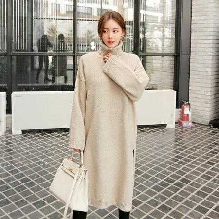 [Tom n Rabbit] BNのロングニットポーラニットタートルネックニットロングニットニットワンピースkorean fashion style