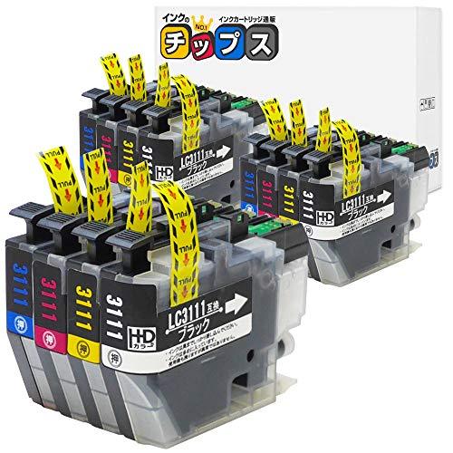 インクのチップス ブラザー LC3111 互換インク 4色3セット 計12本 LC3111-4PK 互換4色×3セット