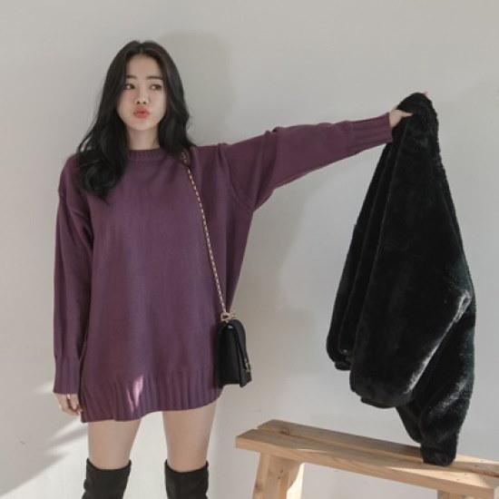 ホワイト・フォックスルーズフィットポプルウル・ニット ニット/セーター/ニット/韓国ファッション