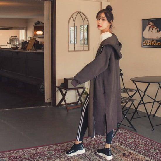 ジェイ・スタイルビックサイズコルビンの起毛フードジップアップ 大きいサイズ/ジャンパー/韓国ファッション